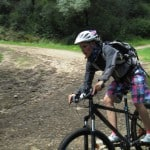 mountain biking action