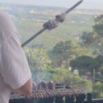 Welcome BBQ mit Picanha am Spiess