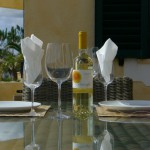 Algarve upper terrace - wine and dine