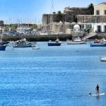 SUP cruise to Yachts and Fisherboat in Cascais bay