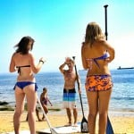 SUP lessons with theory at the beach in Portugal