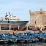 essaouira harbor fishing boats fortress