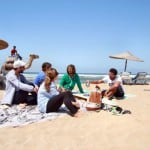 essaouira beach with friends