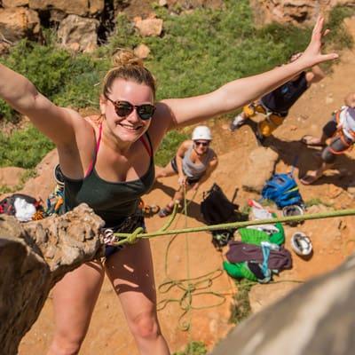 climber klettern felsen