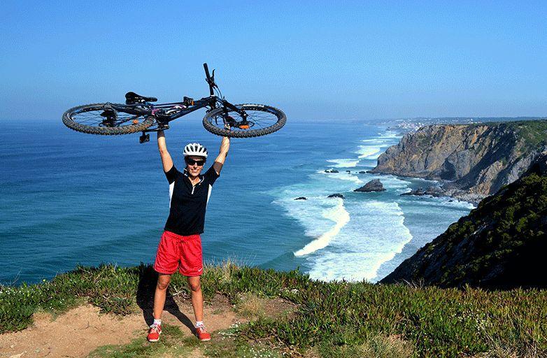 yoga and mountain biking