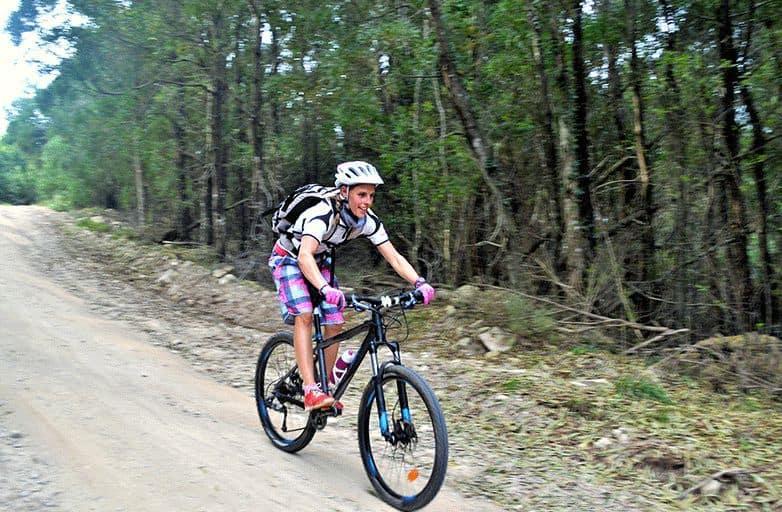 mountain biking woman